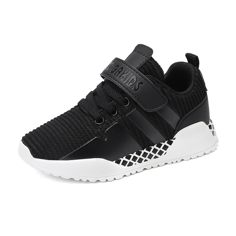 все цены на Spring Kids Boys Sneakers Anti-slippery White Children Shoes Boys Autumn Casual Shoes Boys Fashion Tennis Shoes Boys Black Red онлайн