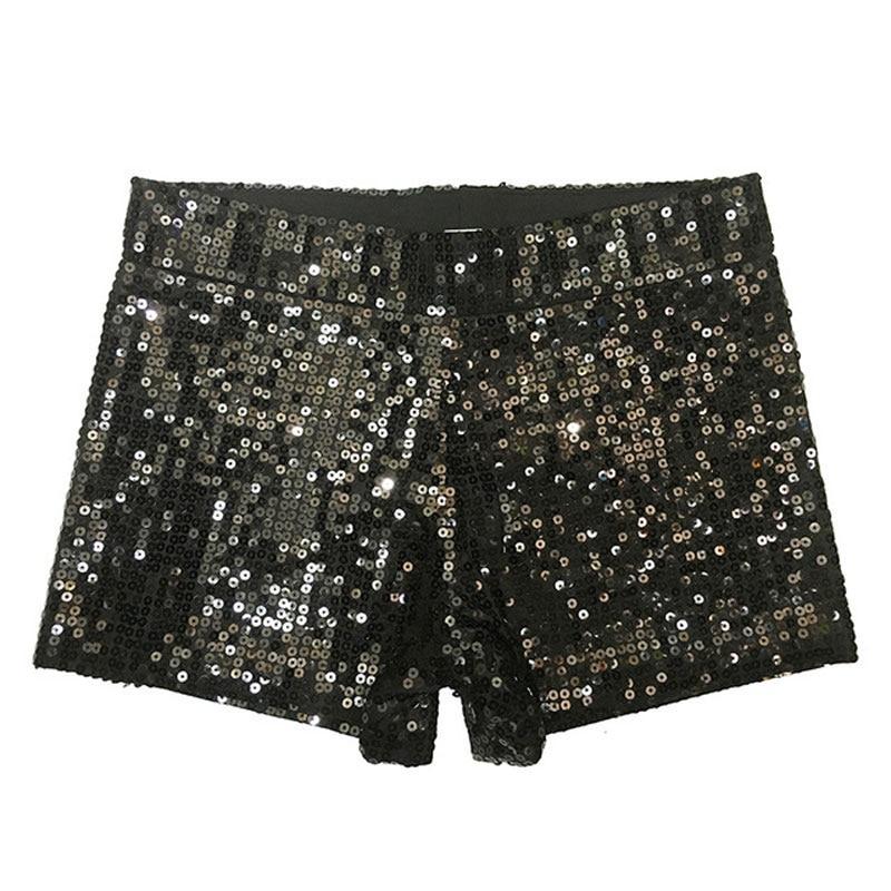 Women Club Shorts Sexy Women 2018 New Fashion Super Mini Skinny Sequined Shorts Christmas Party DS Ladies Korean Shorts Feminino