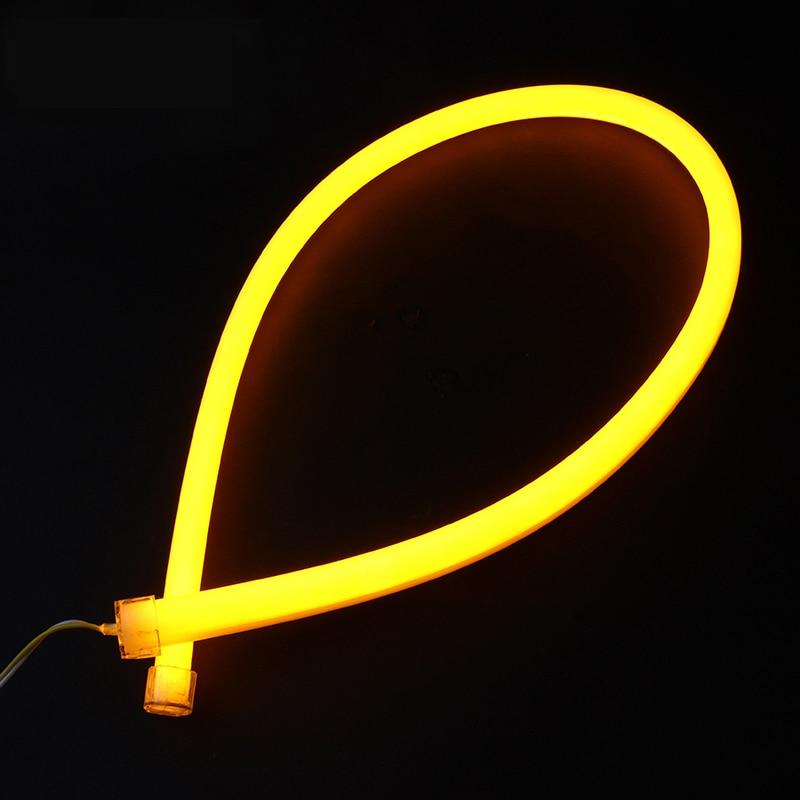 60см ДХО фары парковка лампы дневные ходовые огни автомобиля стайлинг из светодиодов бар полосы гибкий свет глаза Ангела стайлинга автомобилей