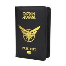 Avengers 4 Captain Marvel Passport Cover Travel Limited Sale Pu Leather Rfid Holder Super Women Pouch DIKEDAKU