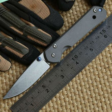 Yidu pequeño sebenza21 real D2 TC4 titanium de la manija cuchillo plegable camping caza herramienta de supervivencia al aire EDC del bolsillo cuchillos herramientas
