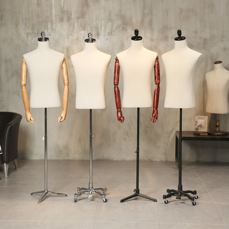 Mens clothing half body props mannequin human body hanger cloth male mannequin