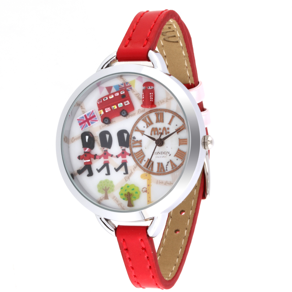 Fashion New Designer Clay British Soldiers Girls Watch Original Brand Quartz Wristwatch 3ATM Waterproof Real Leather Clock NW829 romantic girls lovely clay rabbit watches original quartz leather strap wristwatch factory price korean mini brand clock nw840