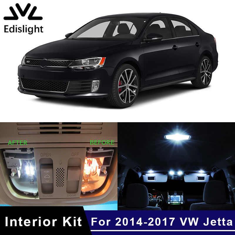 Edislight 13 piezas Canbus LED lámpara bombillas del coche paquete Interior para 2014-2017 VW Volkswagen Jetta 6 MK6 VI cúpula Placa de puerta de la luz