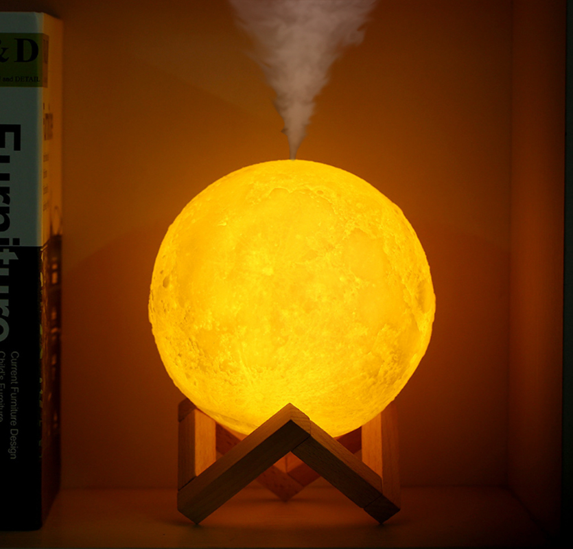 FDIK 880ML Air Humidifier 3D Moon Lamp light Diffuser Aroma Essential Oil USB Ultrasonic Humidificador Night Cool Mist PurifierFDIK 880ML Air Humidifier 3D Moon Lamp light Diffuser Aroma Essential Oil USB Ultrasonic Humidificador Night Cool Mist Purifier