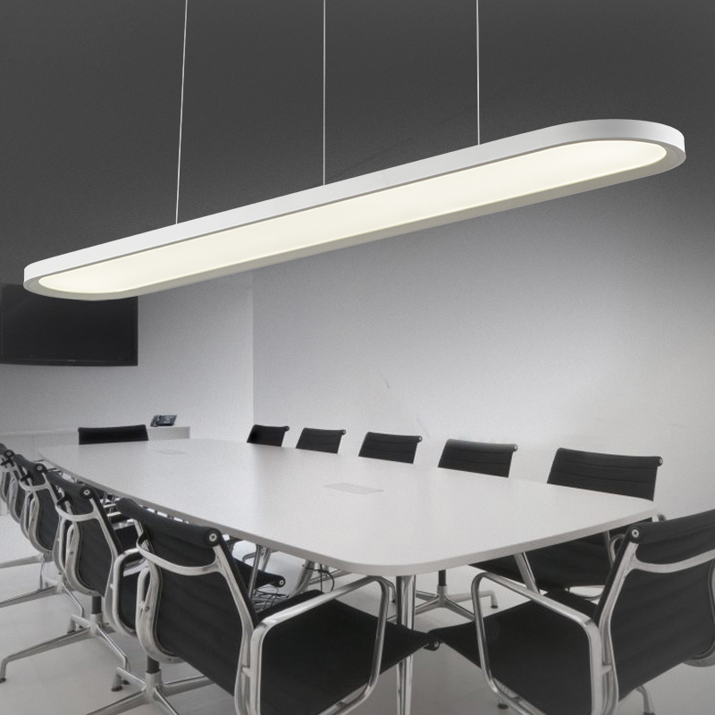 ZX Modern Acryl Office Pendant Lamp LED High Brightness Lighting Fixture for Meeting Room Study Room Lamp Stepless Adjusted zx modern aluminum led chip pendant lamp engineering hanging wire strip light fixture for office conference room study lamp