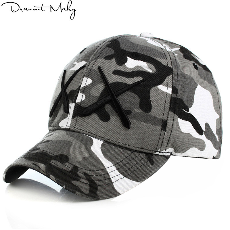 Personality style XX Army Camo Baseball Cap Men Tactical Cap Camouflage Snapback Hat For Men High Quality Bone Dad Hat Trucker outfly outdoor winter flat top earflaps hat cap for men army green