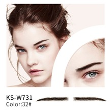 Neitsi Woman's One Pair Fake Eyebrows 100% Human Hair Lace Base Fake Eyebrows KS-W731 leadtops 1set external lights bulb for cars 60w h4 h7 led car headlight 9004 h11 h1 led headlamp foglight auto running lights dj