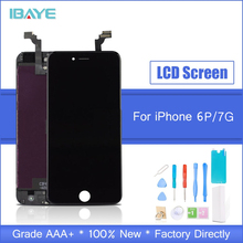 купить LCD For iPhone 6 Plus Display Touch Screen display for iphone6 plus lcd Digitizer Assembly Black + Tools Free Shipping дешево