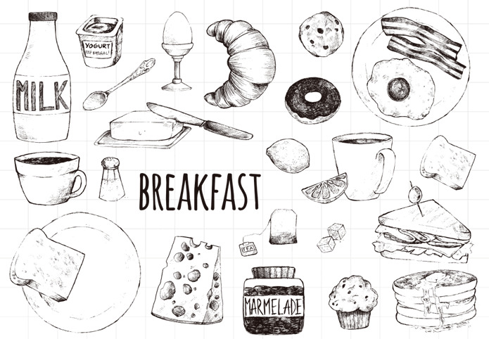 breakfast/Transparent Clear Silicone Stamps for DIY Scrapbooking / Card Making / Kids Christmas Fun Decoration Supplies breakfast for champions