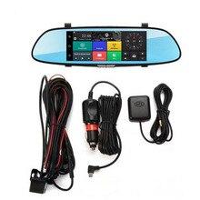 H10 Car DVR 3G Rearview Mirror Video Recorder 7 inch Touch Screen dash cam1080 FHD Dual Camera Bluetooth FM Transmission