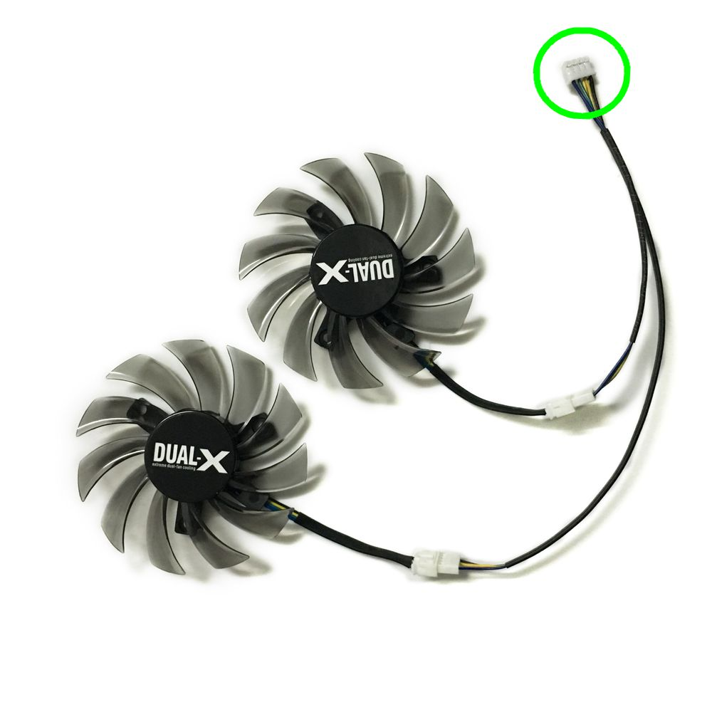 2pcs/lot 4Pin 75mm gpu cooler video graphics Card Fan For asus gtx650TI/GTX660/670 MSI R6790 Twin Frozr II as replacement 2pcs lot pld08010s12hh 75mm dc 12v 0 35a 4pin dual cooler fan as replacement for msi twin frozr iii graphics video card