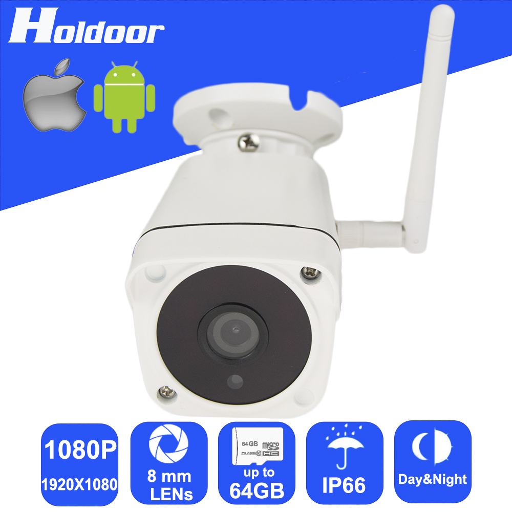 Wireless 1080P 8mm Lens Security Surveillance P2P Outdoor Camera IR Cut Night Vision Motion Detection Alarm Email Alert Onvif hbss 16ch full hd night vision motion detection onvif 1920 1080p p2p poe fixed lens email alarm indoor security system
