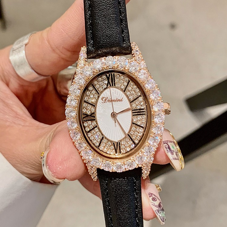 Ladies Female Shinny Girl Women Watches Bling Quartz Watch Fashion Casual Crystal Diamond Luxury Woman Clock Wristwatches GiftLadies Female Shinny Girl Women Watches Bling Quartz Watch Fashion Casual Crystal Diamond Luxury Woman Clock Wristwatches Gift