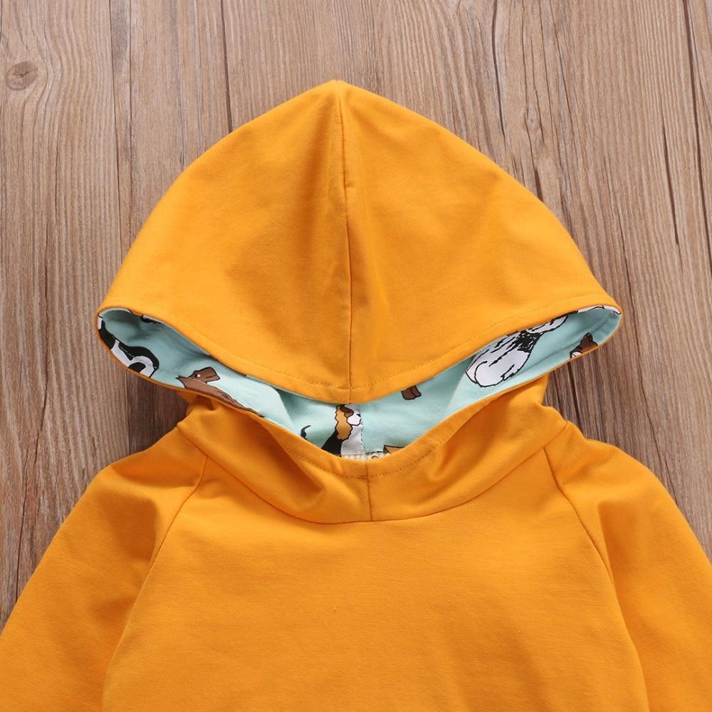 Odzież dziecięca dla dzieci Nowa bluza z kapturem Solidne bluzy z - Odzież dla niemowląt - Zdjęcie 5