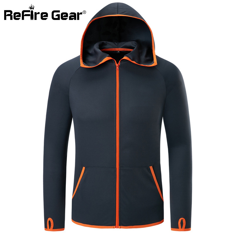 Refire Gear Summer Waterproof Hoodie Jacket Men Quick Dry Lightweight Skin Coat Casual Thin Breathable Ice Refire Gear Summer Waterproof Hoodie Jacket Men Quick Dry Lightweight Skin Coat Casual Thin Breathable Ice Silk Outwear Clothes