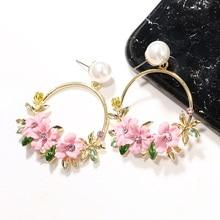 Fashion Trendy Earrings Flowers Drop Earrings