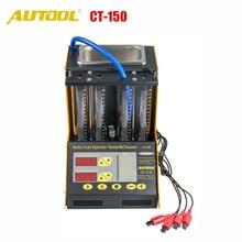 AUTOOL CT150 автомобильный инжектор тестер ультразвуковой очистки Автомобильные топливные инжекторы очиститель для ремонта автомобиля 4 цилиндра диагностический инструмент