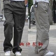 82 летние тонкие мужские модные брюки повседневные с несколькими карманами рабочие брюки размера плюс 4xl 5xl 6xl 3xl повседневные брюки