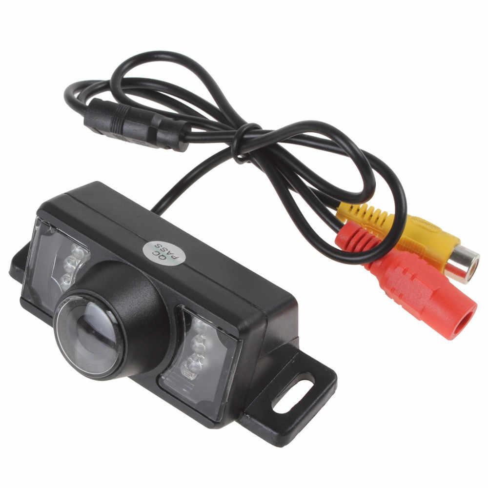 車のリアビューパーキングカメラ Hd ナイト Led ライト Dvd のバックアップリバース後姿カメラ + 6 メートルワイヤー