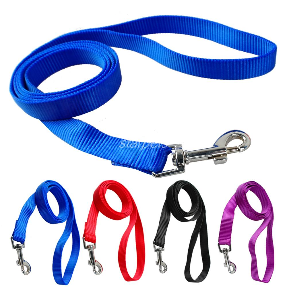 120cm Long High Quality Nylon Dog Pet Leash Lead for Daily Walking 1.0cm, 1.5cm, 2.0cm, 2.5cm Width 4 Colors