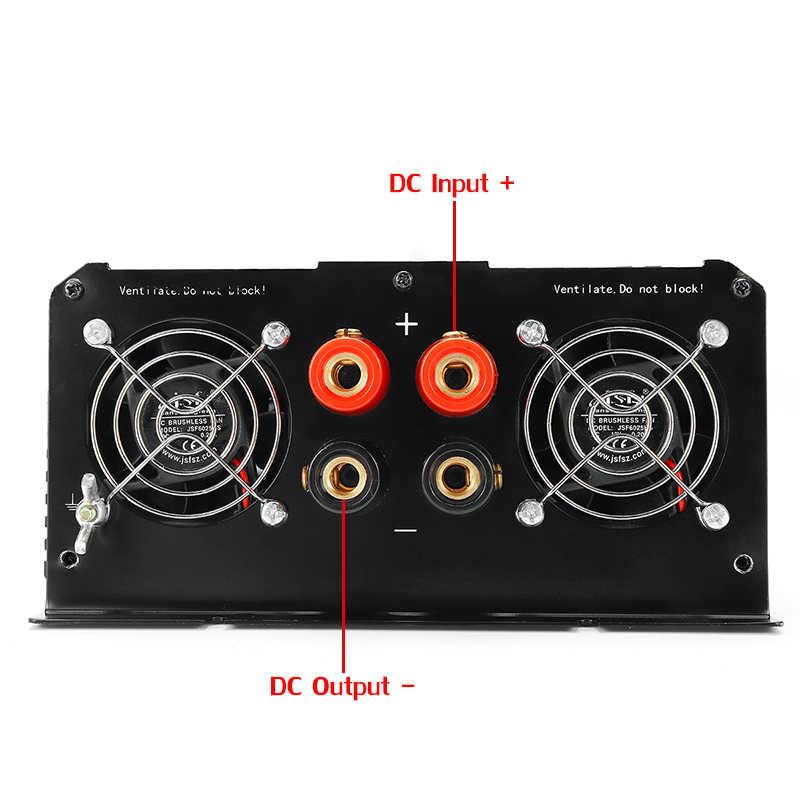 KROAK inwerter 12V 110V/220V 10000W szczyty zmodyfikowana sinusoida 5000W transformator napięcia adapter zasilania ładowanie samochodu USB
