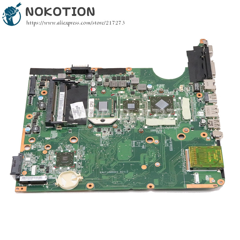 NOKOTION 509450-001 For HP DV6 DV6-1000 Laptop Motherboard DAUT1AMB6E0 DAUT1AMB6D0 Hd4650 Free Cpu Tested