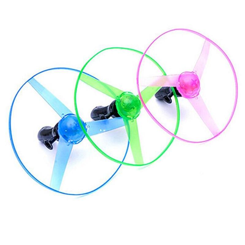 1 ensemble coloré en plastique électrique rotatif volant Gyro jouets lumineux pour enfants enfants en plein air drôle jeux de sport jouets