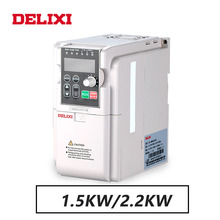 DELIXI 220V 1.5KW/2.2KW single phase input three phase output frequency inverter converter for motor Speed Controller drives