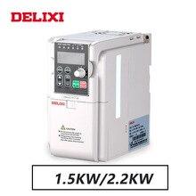 DELIXI 220V 1.5KW/2.2KW שלב אחד קלט שלושה שלב פלט תדר מהפך ממיר עבור מנוע מהירות בקר כונני