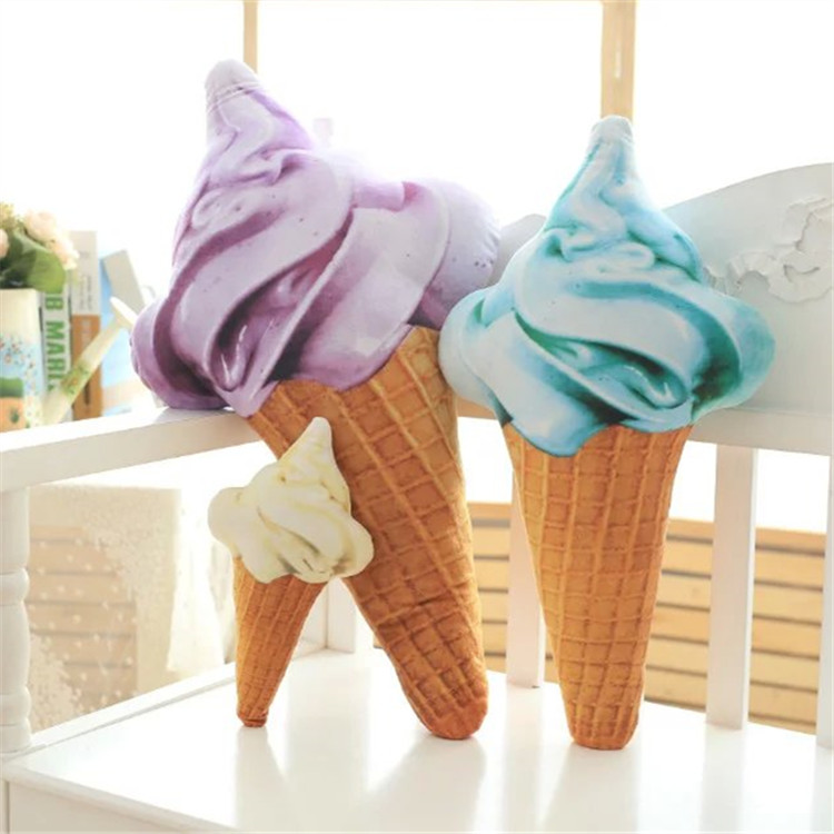 Image 5 - Blue Yellow Red Purple Ice Cream Cone Plush Toy Pillow Sofa Cushion Decorative Cushions For Sofa Girls Children-in Cushion from Home & Garden
