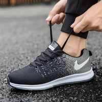 New Fashion Men Vulcanize Shoes Sneakers Stretch Fabric Breathable Light Soft Leisure Shoes for Men Trainers Zapatos De Hombre