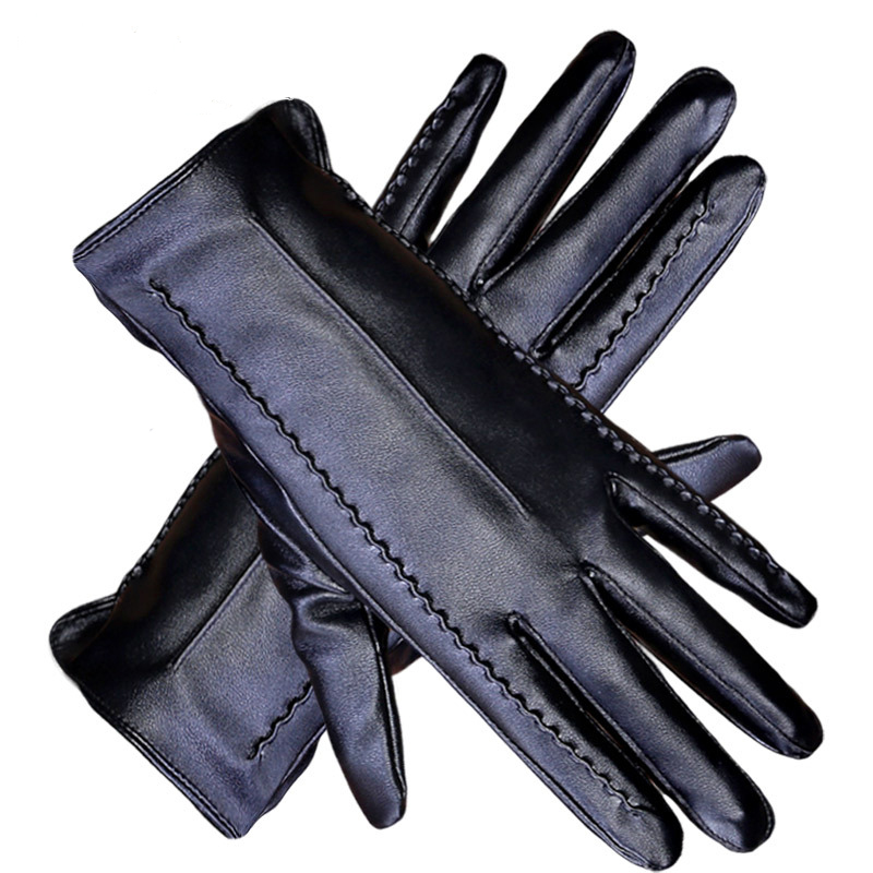 Genuine Leather Gloves Men's Winter Gours 2019 Fashion Gloves Hot Gloves Black Goat Skin Gloves