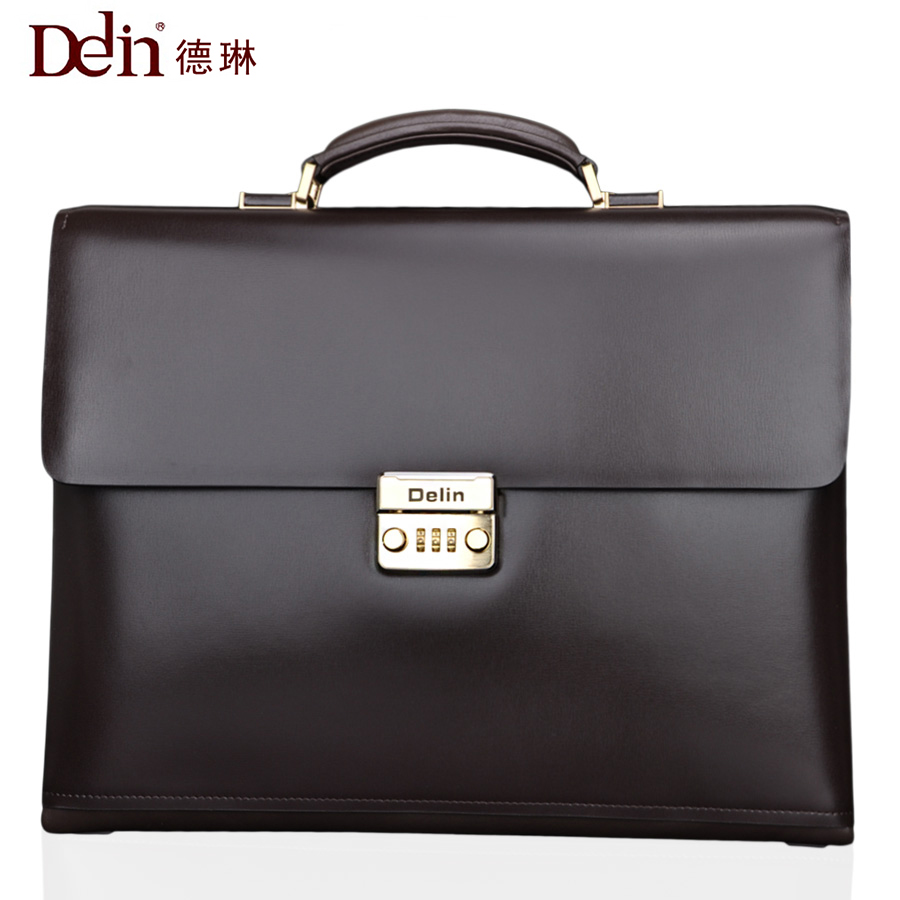Delin Classic business leather bag with password lock briefcase handbag cowhide business package men cross section file package frank buytendijk dealing with dilemmas where business analytics fall short