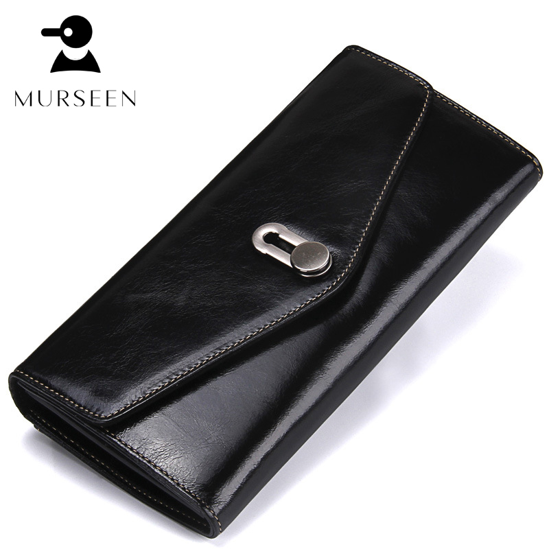 Women Wallet Genuine Leather Coin Purse Long High Quality Cowhide Female Clutch Hasp Zipper New Fashion Design Card Holder Black 2016 new high quality ladies purse fashion women bifold leather clutch card holder purse long handbag female long section wallet