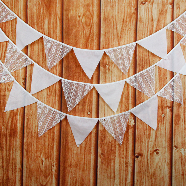 12 flags white flower lace flag bunting banner pennant wedding 12 flags white flower lace flag bunting banner pennant weddingbirthday party decoration supplies mightylinksfo