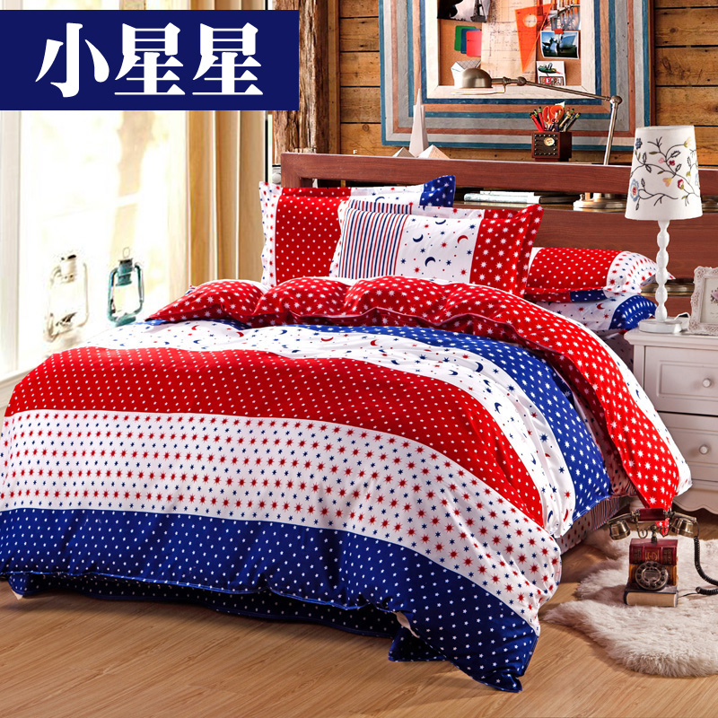 roupa de cama bedding set queen king size 4pcs Cotton bed sheet +duvet cover + pillowcases housse de couette couvre lit