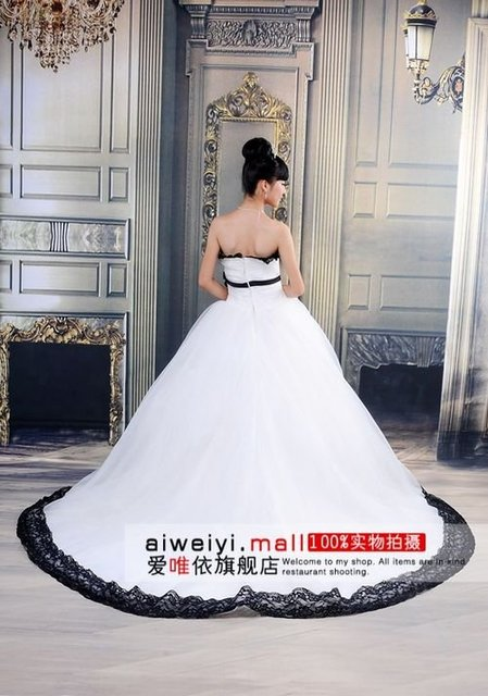 Free Shipping Wholesale Discount 2011 Popular black belt beautiful bridal dress / princess wedding dresses