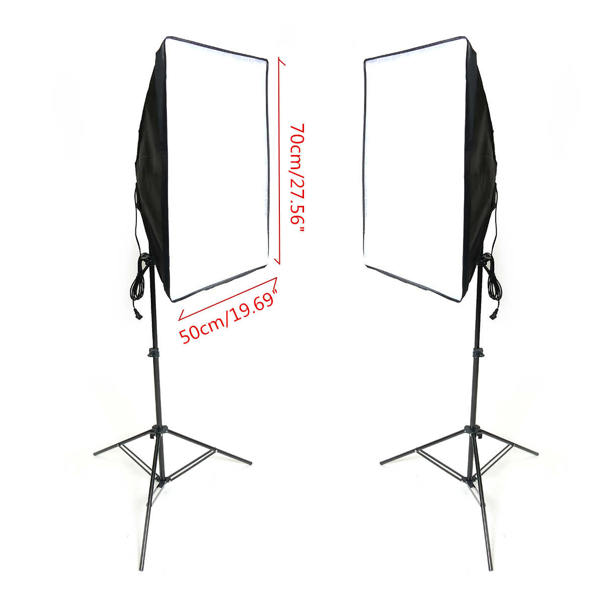 Diffuser Light 50X70cm Continuous Lighting Softbox for E27 Lamp Holder Socket With Photograph Light Stand Photo Studio Kit