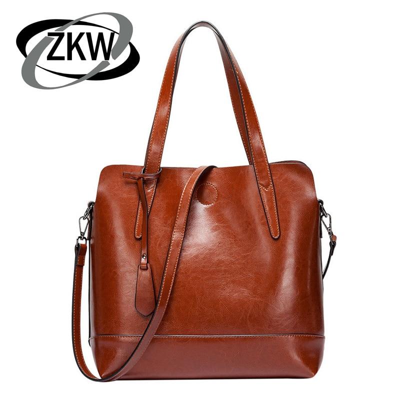 2019 High quality Women's Big Handbag Bag Genuine Leather Brief Shoulder Bags Female Messenger Bag Tassel Bag