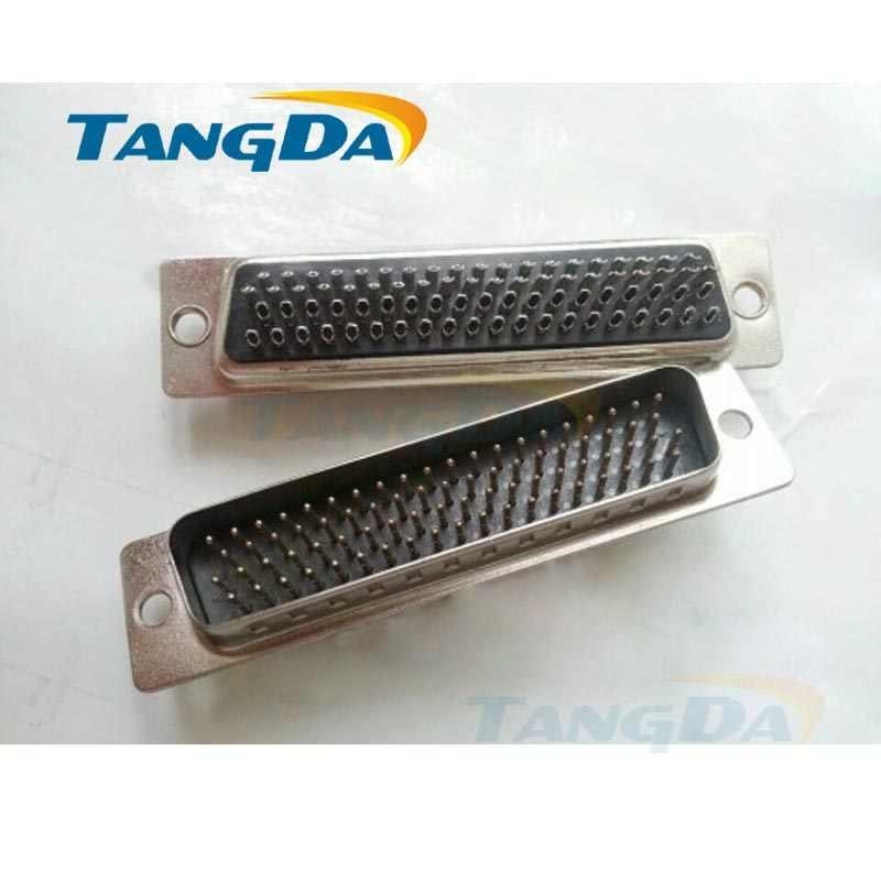 Tangda đầu DB loại đường hàn HDB 78 P 78 pin 78 lỗ lõi đầu 4 rows của màu đen lõi cao su đồng DSUB