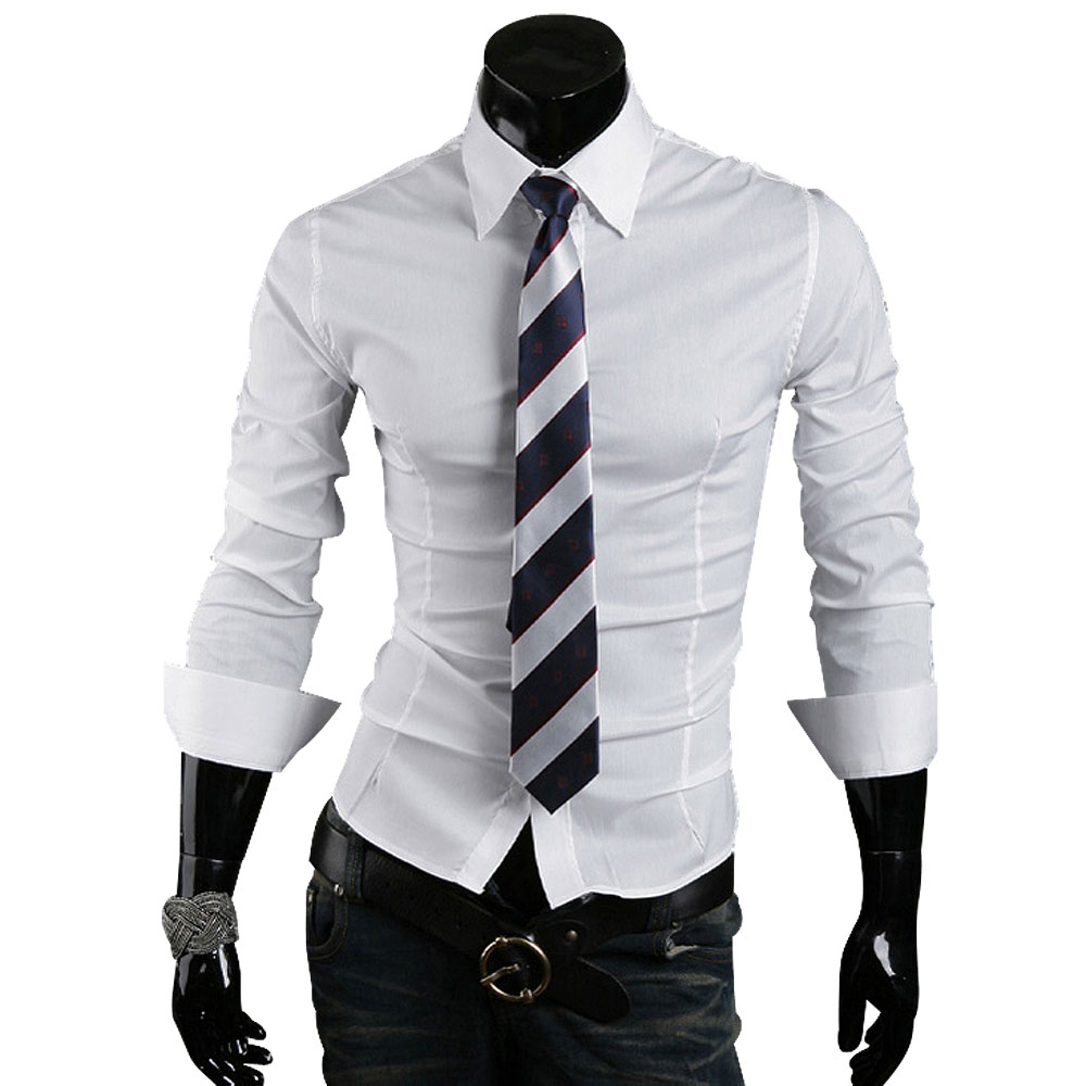 Free shipping fashion mens stylish clothes long sleeve for Mens jeans and dress shirt