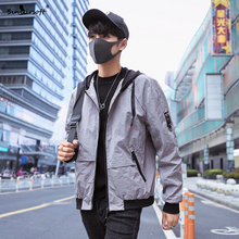New Design Bomber Hooded Jacket Men Casual Patchwork Cotton Loose Male Streetwear Zipper Coat Brand  Autumn Clothing Hot