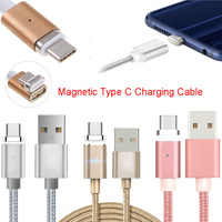 1pc Magnetic USB-C Type C Charger Cable For LG G5/G6/V20 Pixel P9/P10 Oneplus 2/3/3T