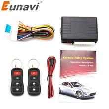 Eunavi-Kit de coche Universal, cierre Central remoto de coche, sistema de entrada sin llave, bloqueo Central de potencia con Control remoto