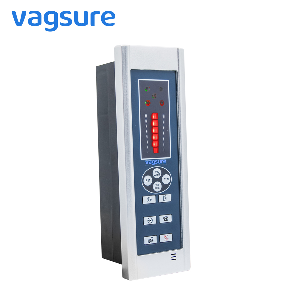 Size 20*6.5cm Digital Shower FM Radio Fan Speaker Freehand Computer Control Panel Shower Room Cabin Accessories