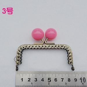 Image 3 - 8.5 cm renkli şeker topu öpücük toka mini düz tırtıllı çanta çerçeve sikke çanta yapımı metal toka donanım 10 adet/grup