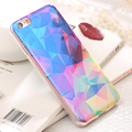For iphone 6 6s 7 Case Bling Blue Light Ray Silicon Back Cover Soft TPU Glitter Diamond Pattern Coque For iphone 7 6 6s Plus