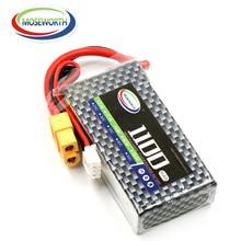 2PCS MOSEWORTH 3S 11.1V 1100mAh 30C-60C RC lipo battery For rc airplane car tank Li-Po batteria rechargeable AKKU