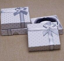 2016 Free Shipping New  30Pcs/Lot White Bracelet Bangle Watch Gift Box Case 9*9*2.2cm FASHION